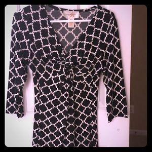 Julie Brown black & white dress